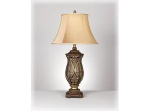 KATARINA BRASS TABLE LAMP (2/CTN)  by Ashley Furniture
