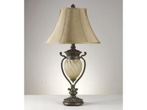 GAVIVI DARK BROWN TABLE LAMP (2/CTN)  by Ashley Furniture