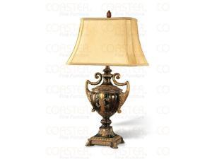 Set of Two Antique Gold Table Lamps by Coaster Furniture