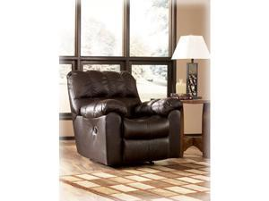 Rocker Recliner by Ashley - Chocolate Leather Match (9650128)