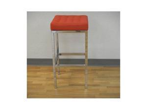 Montana counter stool in red PU with chrome frame by GFI Furniture