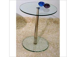 Lucy end table with clear glass base and top