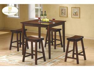5PC PACK PUB SET,WALNUT FINISH