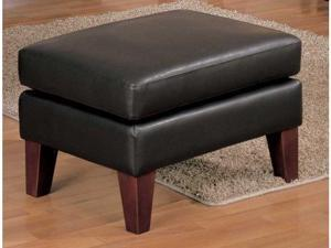 Petite Dark Brown Bi-Cast Vinyl Ottoman By Homelegance Furniture