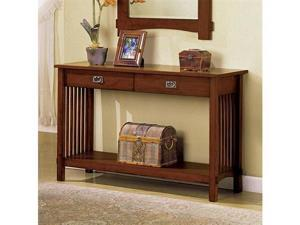 Valencia Hallway Console Entry Table in Oak Finish by Furniture of America