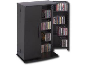 Black Small Locking Multimedia (DVD,CD,Games) Storage Cabinet By Prepac