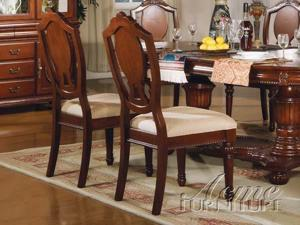 Cherry Finish Side Chair (Set of 2) by Acme Furniture