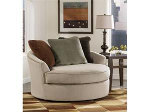 """Famous Collection"" -Mocha  Oversized Swivel Chair"