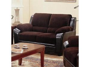 Monika Stationary Loveseat with Wood Feet  by Coaster