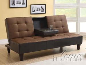 ADJUSTABLE SOFA - Kei Chocolate Microfiber  Espresso PU
