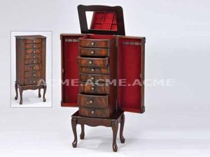JEWELRY ARMOIRE - Vivan Cherry Finish Jewelry Armoire