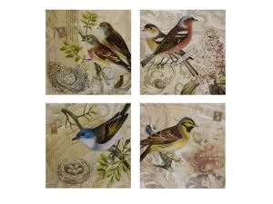 Set of 4 Kincaid Bird Canvas - OEM