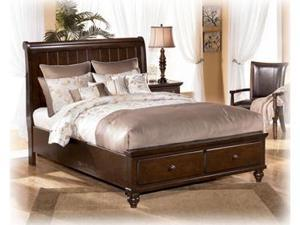 Medium Brown Queen Sleigh Bed - Signature Design by Ashley Furniture