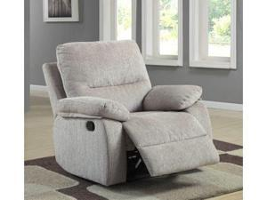 Marianna Reclining Chair in Beige Chenille by Homelegance