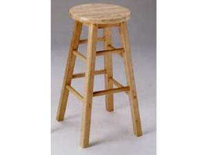 "Metro 29""H Wooden Bar Stool Natural by Acme Furniture (Set of 2)"