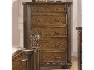 Traditional Five Drawer Chest of Drawers by Coaster