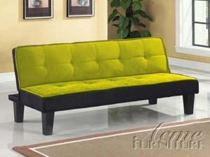 Hamar Adjustable Sofa in Green Microfiber by Acme Furniture