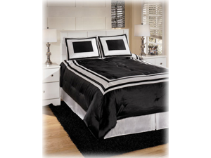 King TOB Set in Black and White - Signature Design by Ashley Furniture