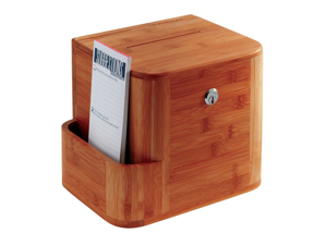 Bamboo Suggestion Box in Cherry by Safco