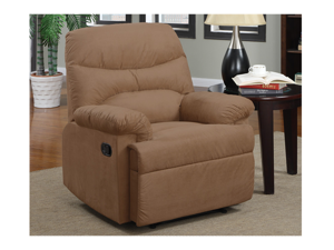 Casual Rocker Recliner in Saddle by Poundex
