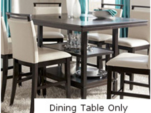 Rectangle Dining Room Counter Table in Dark Brown by Ashley Furniture