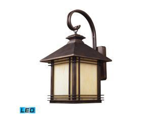 1 Light Outdoor Wall Sconce In Hazelnut Bronze - LED Offering Up To 800 Lumens (60 Watt Equivalent) With Full Range Dimming. ...