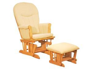 Deluxe Gilder Chair with Beige Pad Natural