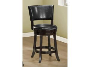 "Black Leather-Look 39""H Swivel Counter Height Stool/ 2Pcs by Monarch"