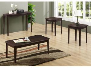 Cappuccino Cherry Veneer 3Pcs Table Set by Monarch