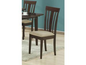 "Cappuccino 38""H Side Chairs With Micro-Fibre / 2Pcs by Monarch"