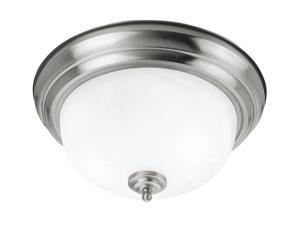 Coronado Collection Ceiling Mount Fixture with White Alabaster Glass in Brushed Nickel by Livex