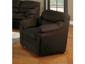 Chocolate MICROFIBER Chair -W/P1 by Acme Furniture