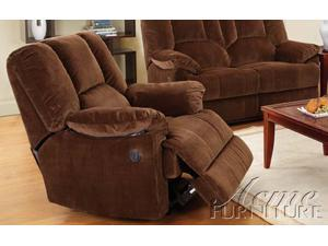 Obert Recliner w/ Power Motion in Cordoroy Brown by Acme Furniture