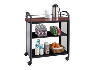 Impromptu Beverage Cart in Black by Safco