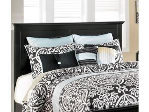 Maribel Twin Panel Headboard in SolidBlack