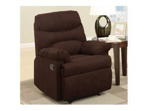 Casual Rocker Recliner in Chocolate by Poundex