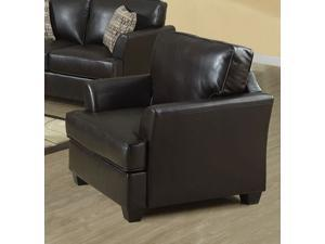 Chocolate Brown Bonded Leather Chair by Monarch
