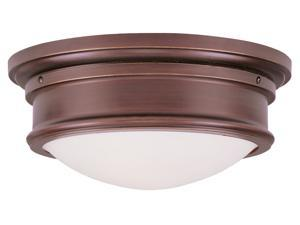 Vintage Bronze with Hand Blown Satin White Glass from Astor by LiveX Lightining