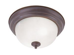 Weathered Brick Ceiling Mount Fixture with White Alabaster Glass from the Home Basics Collection by LiveX Lighting