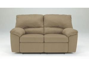 Mocha Contemporary Reclining Loveseat by Ashley Furniture