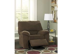 Chocolate Contemporary Power Rocker Recliner by Ashley Furniture