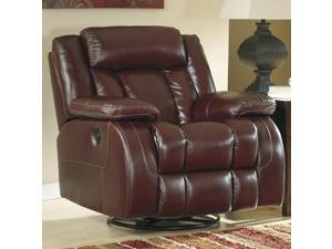 Chestnut Casual Swivel Power Rocker Recliner by Ashley Furniture