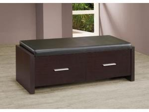 2 Drawer Storage Bench with Padded Seat