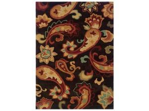Powell Bombay Palme Brown 5' x 7' Rug - 200-R0055-5