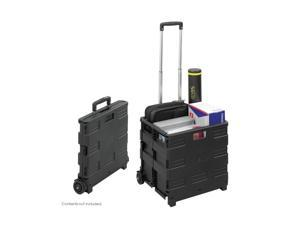 Stow And Go Rolling Cart 16-1/2 x 14-1/2 x 39 Black