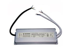 Waterproof IP67 LED Driver Transformer 100 Watt 12V Power Supply with double output