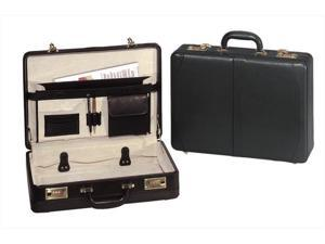 Transworld 9213 18-inch Leather Expandable Attache Briefcase - OEM