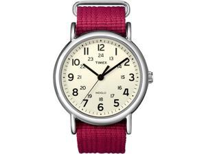 Wmns Weekender Watch Fuschia Nylon Strap