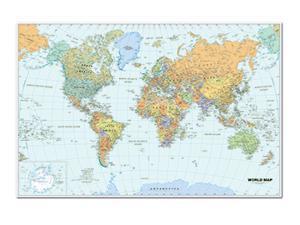 WORLD LAMINATED MAP 50 X 33