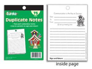 SCHOOL SUPPLIES DUPLICATE NOTES